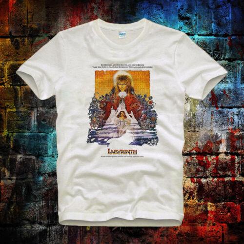 Labyrinth David Bowie 80/'s Film Retro Cool Hipster Unisex/& Ladies T Shirt 16b