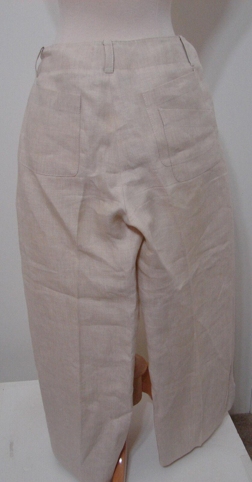 Donna Karan DKNY Pant Suit & Jacket Cream 100% Li… - image 7