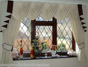 Image Is Loading WAVE EFFECT SWAGS Amp TAILS CURTAINS SETS FITS