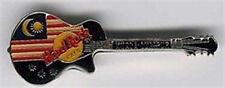 Hard Rock Cafe KUALA LUMPUR 1990s FLAG on Black Les Paul GUITAR PIN - HRC #4211