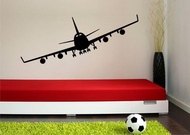 WANDTATOO Aufkleber Wandbild Kinderzimmer Jumbo Flieger Flugzeug 556 A