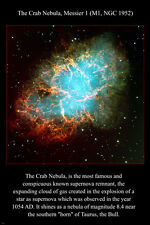 THE CRAB NEBULA Hubble Space Telescope image POSTER 24X36 SUPERNOVA new!