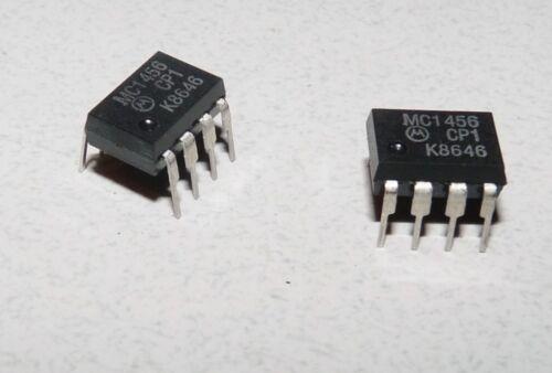 MOTOROLA MC1456CP1 MC1456 IC 8 PIN CHIP OPERATIONAL AMPLIFIER LOT OF 2 NEW
