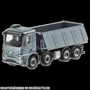 Mercedes-Benz-Arocs-FH25-Classic-Space-4-axle-dump-truck-8x4-Grey-New-Herpa-1-87