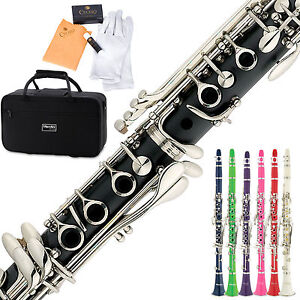Mendini-by-Cecilio-B-Flat-Clarinet-in-Black-Blue-Green-Pink-Red-or-White