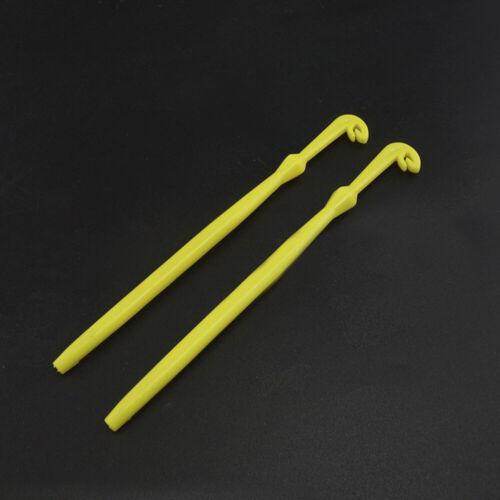 2 Riemen schnell Nagelknoten Bindewerkzeug Angelschnur Hakenentferner