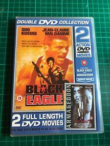 2-ACTION-FILMS-DVD-Black-Eagle-Armageddon-jean-claude-van-damme-sho-kosug