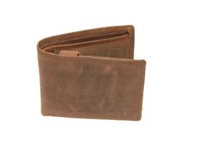 RFID-NFC-Geldboerse-Naturleder-Bueffelleder-Brieftasche-Geldbeutel-Portmonai