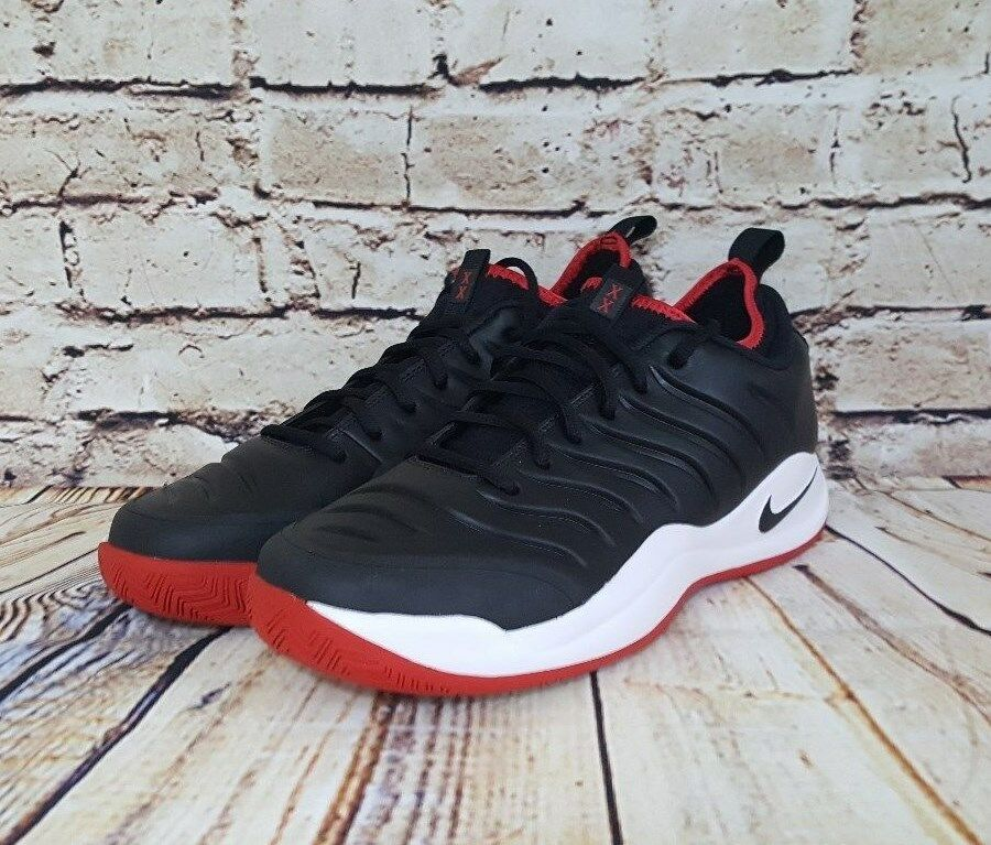 Nike Uomo aria oscillano xx nero scarpe da tennis rosse
