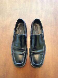 Image Is Loading Aston Grey Dsw Brand Black Mens Leather Slip