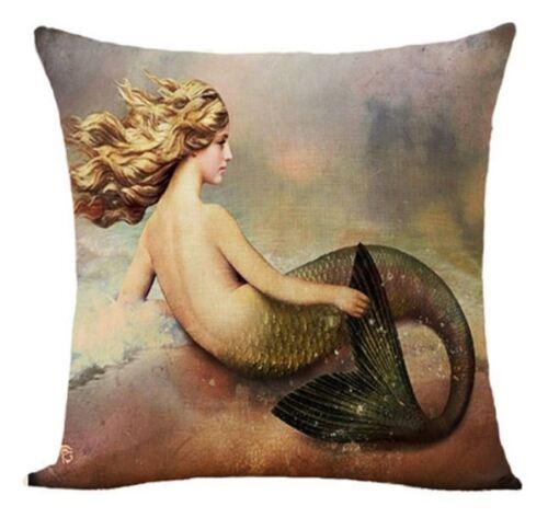 Steampunk Mermaid Cosplay Housse de Coussin 45 cm