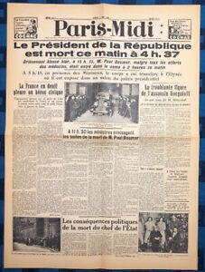 La-Une-Du-Journal-Paris-Midi-7-Mai-1932-Assassinat-De-Paul-Doumer