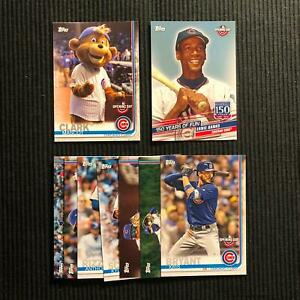 Details About 2019 Topps Opening Day Chicago Cubs Master Team Set 9 Cards Clark Mascot