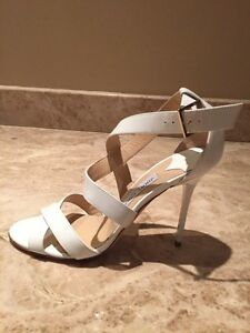 1d4dd14f3 Image is loading Jimmy-Choo-Lottie-White-Patent-Leather-Crisscross-Sandal-