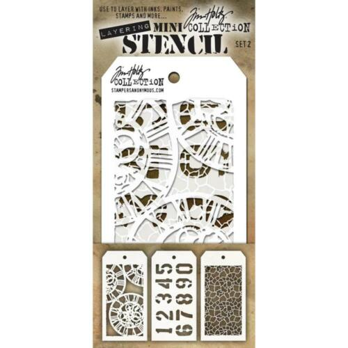 Tim Holtz Mini Layering Stencil ~ SET 2 ~ THMST002 ~ Stampers Anonymous