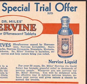 Hysteria: Dr Miles Nervine for Nervous Tension Elkhart IN Advertising Trade Card