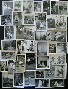 Lot-40-VTG-Snapshots-Photos-1940s-1960s-CUTE-CHLDREN-BROTHERS-amp-SISTERS-BABIES