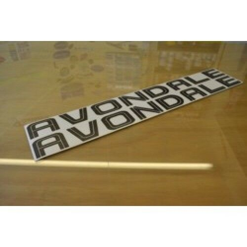 AVONDALE Caravan Split Name Sticker Decal Graphic PAIR