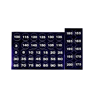 Details About Weight Stack Stickers Home Gym Universal Round Plate Numbers 3 200lbs