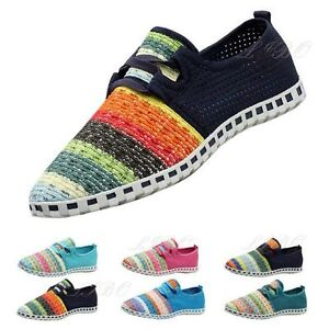 254bbbb13 Image is loading Men-Women-Flats-Espadrilles-Canvas-Shoes-Loafers-Athletic-