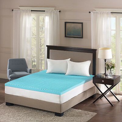 """ULTIMATE COOL GEL 3/"""" LUXURY SLEEP COMFORT MEMORY FOAM MATTRESS BED PAD TOPPER"""