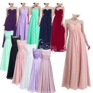 Women-Long-Dress-Wedding-Evening-Gown-Ball-Party-Bridesmaid-Formal-Prom-COCKTAIL