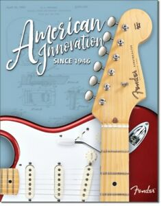 Fender-American-Innovation-Since-1946-Metal-Pared-Signo-425mm-x-310mm-de