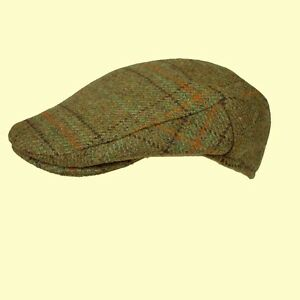 Tweed Flat Cap Mens Ladies Shooting Cap S-M-L-XL-XXL 54 to 63cm 73 4 ... 772714997d11