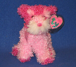 PINKY POO the DOG TY PINKYS BEANIE BABY MINT with MINT TAGS