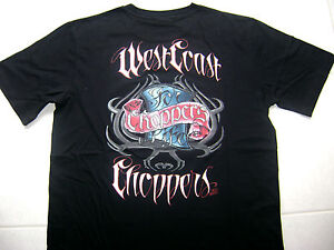 BRAND NEW!! WEST COAST CHOPPERS VINTAGE MINERAL BLACK REAL WCC T-SHIRT
