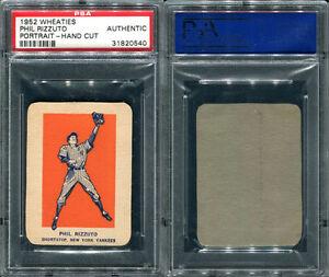 1952-WHEATIES-PHIL-RIZZUTO-PORTRAIT-HAND-CUT-PSA-0-AUTHENTIC-0540