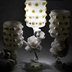 3 Glas Kerzenhalter Kerzenleuchter Licht Esstisch Hochzeit Zuhause Dekorationen