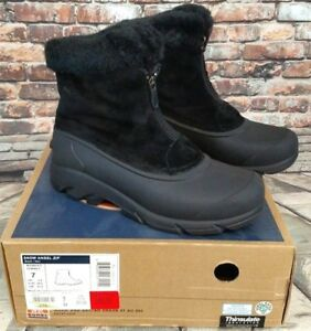 Sorel-Snow-Angel-Zip-Thinsulate-Faux-Fur-Lined-Boots-Women-NL1840-010-EUC-Sz-7M