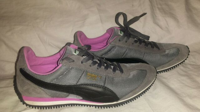 Women's PUMA Casual Cool Retro Sneakers Speeder Model Size 8.5 345640 30 Gray