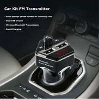 Wireless Bluetooth Usb Car Charger Fm Transmitter Modulator For Phones Ipod Mp3