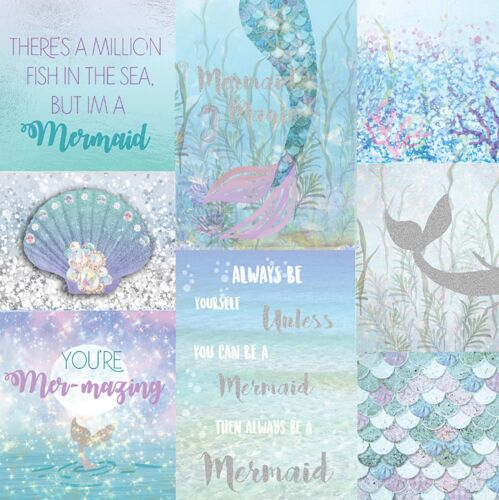 MERMAZING MERMAID GLITTER WALLPAPER ARTHOUSE 698304 ICE BLUE SPARKLE
