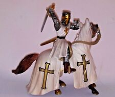 2003 Schleich Horse And Knight Medieval Crusades Figures Germany White Cross