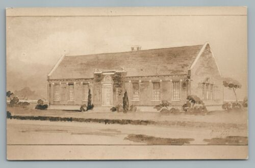 """Big Builden but Awfully Homely"" Brick—Artist Conception RPPC Antique Photo1910"