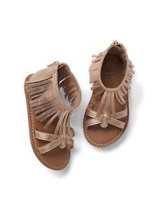 3740eebbd71bb GAP Baby / Toddler Girls Size US 6 EU 23 Rose Gold Fringe Sandals ...