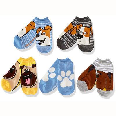 Pokemon Socks Boys Kids 5 Pairs No Show Pikachu Size Medium Shoe 7.5-3.5 NWT