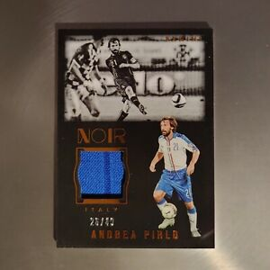 Andrea Pirlo - Panini Noir 2016 - Numbered /40 - Jersey Patch - Soccer Card