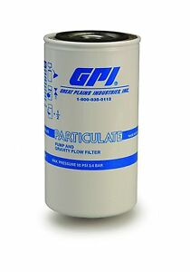 GPI 129300-01 P-18-10-1 Particulate Fuel Filter18 GPM/67 LPM 10... Free Shipping