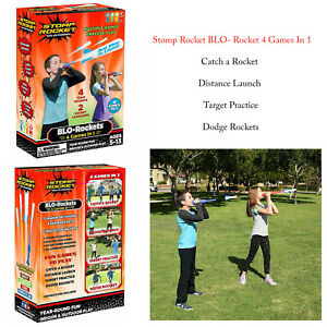 Stomp-Rocket-Blo-Rocket-4-Games-In-1-Kids-Outdoor-Garden-Air-Power-Launcher-Toy