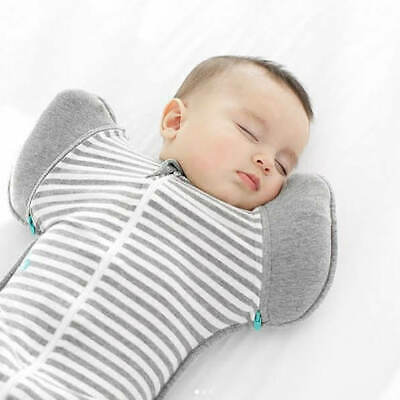 Love to Dream Swaddle UP 50//50 Baby Hands Up Swaddle Blanket GREY STRIPE 1.0Tog