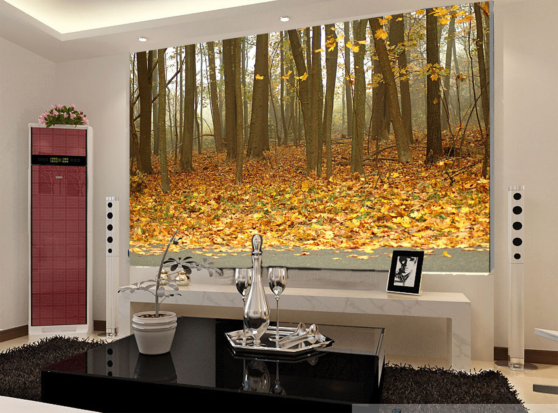 3D Der Herbst, LAUB, Wald Fototapeten Wandbild Fototapete BildTapete Familie DE