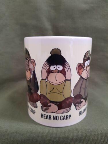 Stainless Carp Fishing Mug With paracord Handle Three Unwise Monkeys 400ml