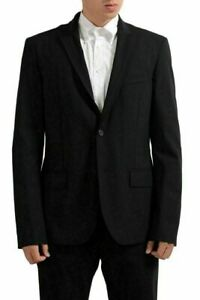 C-039-N-039-C-National-Collection-Wool-Black-Two-Button-Men-039-s-Blazer-US-42-IT-52