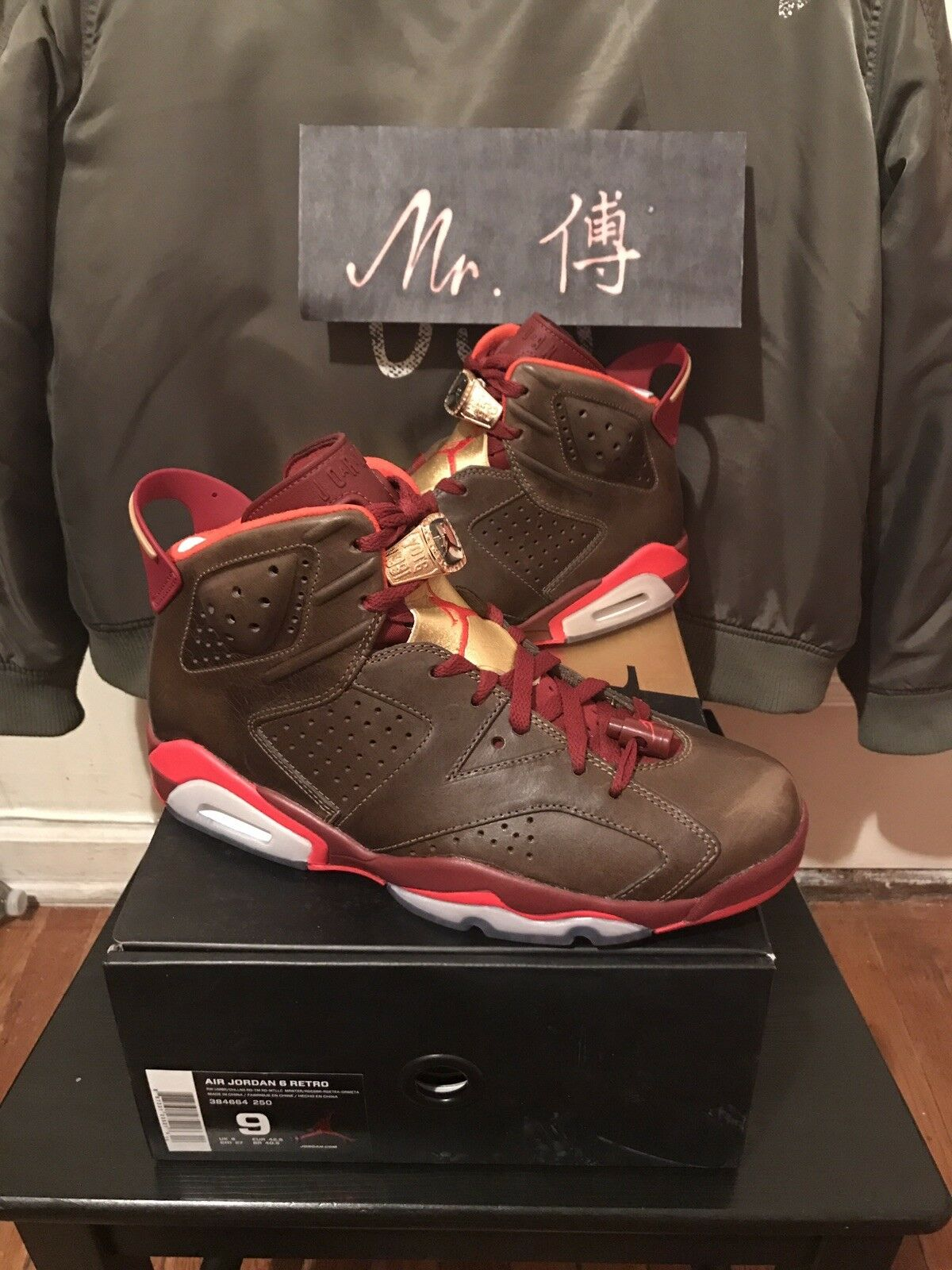 Nike Air Jordan 6 retro VI cigar championship shoes men's size 9