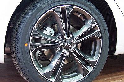 Left Right Carbon Tuning Wheel Sticker 17'' 1Set For 13 14 Kia Forte : K3