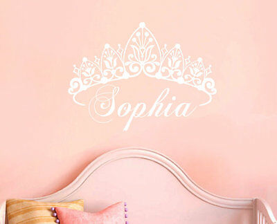 Removable Crown Name For Baby Nursery Vinyl Wall Paper Decal Art Sticker Q1043